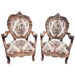 19th Century Boudoir French Bergere/ Lounge Chairs
