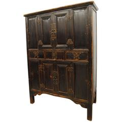 Antique Chinese 19th Century Armoire from Zhejiang