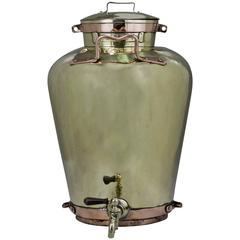 Dutch Copper and Brass Milk Storage Kitchen Vessel, 19th Century