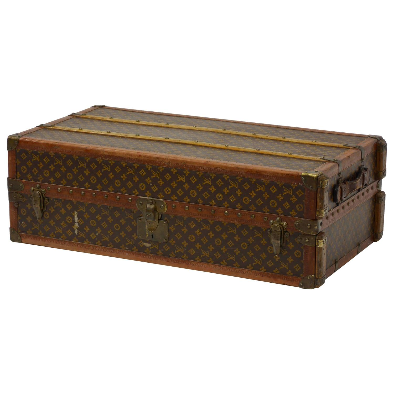 Lv Trunk Coffee Table: Fine Louis Vuitton Monogram Cabin Wardrobe Trunk At 1stdibs