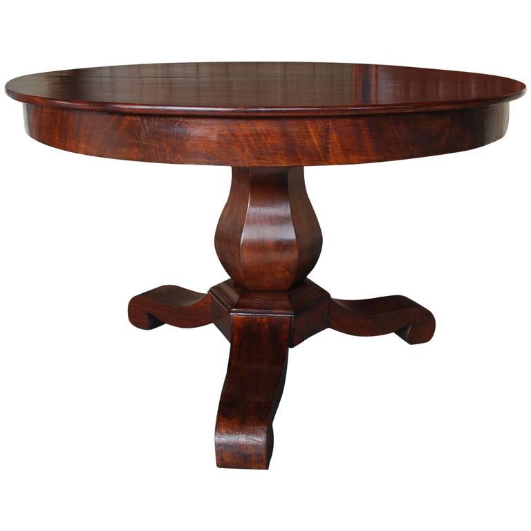 19th Century Round Mahogany Center Table