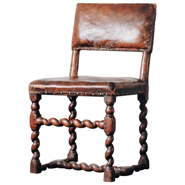18th Century Swedish Baroque Chair For Sale At 1stdibs