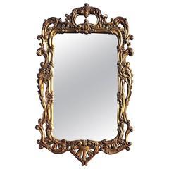 19th Century Rectangular French Rococo Gilt Wall Mirror