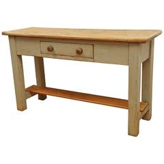 Serving Table with Pot Board Shelf