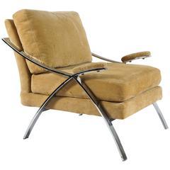 Single Chrome Baughman Armchair