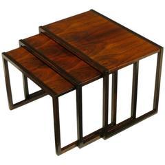 Trio of Kai Kristiansen Rosewood Nesting Tables