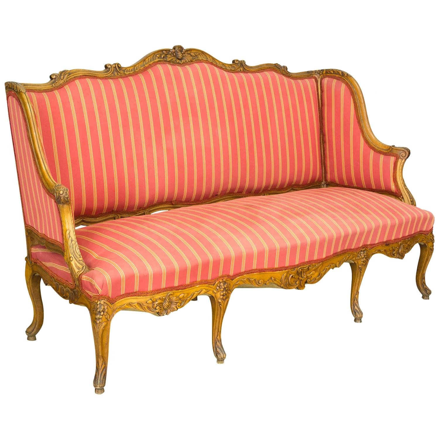 19th century louis xv style sofa or canape at 1stdibs for Canape orientale