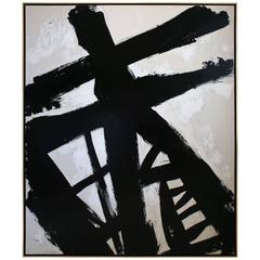 Original Black and White Painting by Argentine Artist Karina Gentinetta