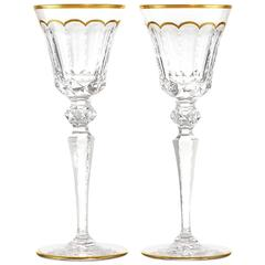 "24 St. Louis Crystal ""Excellence"" Water Goblets"