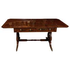 Fine Period Regency Rosewood Sofa Table
