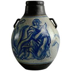 Large Hand-Painted Urn by Jais Nielsen for Royal Copenhagen