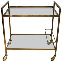 French Brass Vintage Drinks Trolley/ Bar Cart