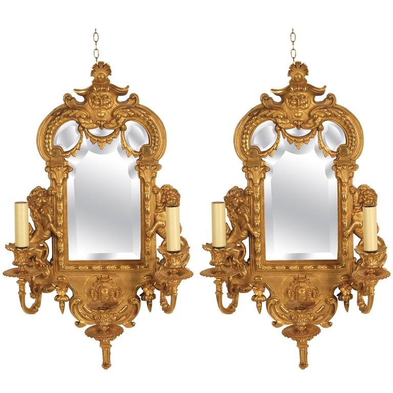 Pair of Bronze Appliqués