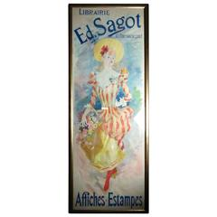 Jules Cheret Librairle Edition Sagot Framed Poster, circa 1910s