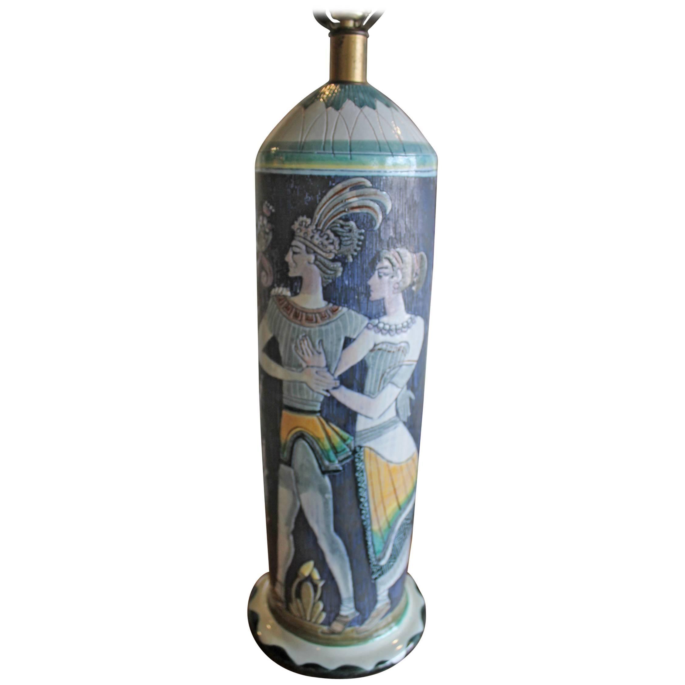 Marian Zawadsky for Tilgman Keramik Vintage Sweden Table Lamp Mid-Century Modern