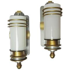 Art Deco Wall Sconces from Cocoanut Grove Hollywood, Three Available