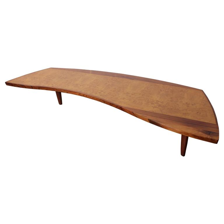 Large coffee table by george nakashima for sale at 1stdibs Wide coffee table