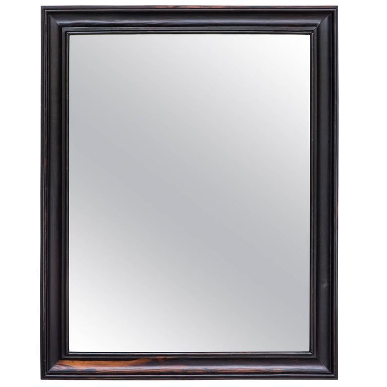 Dutch colonial ebony framed mirror at 1stdibs for Black full length wall mirror