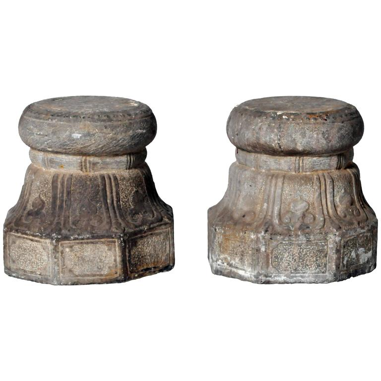 Pair of Chinese Stone Plinths