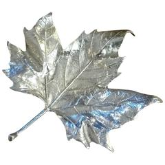 Trinket Tray in Form of a Maple Leaf