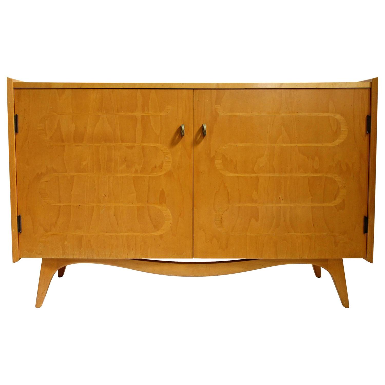 midcentury modern swedish maple dresser chest by edmond spence