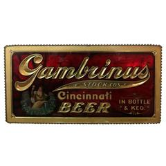 Gambrinus Beer Advertising Sign