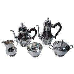 Tiffany Sterling Silver Five-Piece Tea & Coffee Set