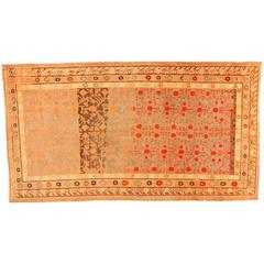 Antique Khotan Decorative Oriental Carpet in Gallery Size, circa 1890, Soft Blue