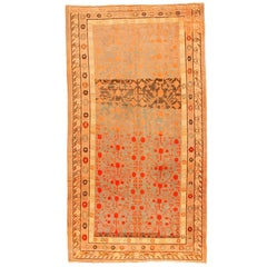 Antique Khotan Decorative Oriental Carpet in Gallery Size, circa 1890, Soft Blue