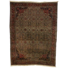Late 19th Century Antique Persian Farahan Rug with Art Nouveau Style