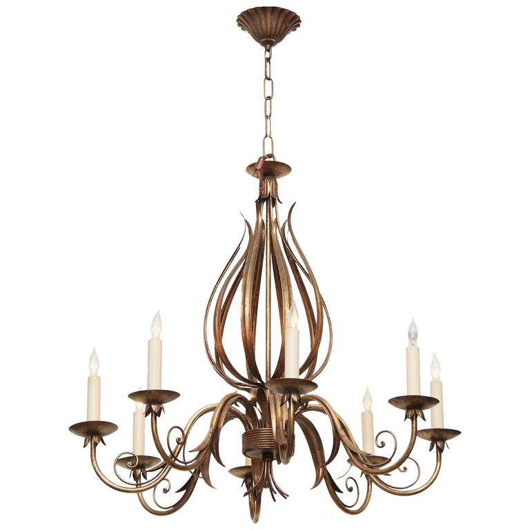 Florentine Gold Finish Style Eight Arm Chandelier with ...