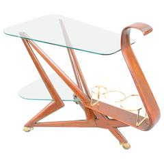 Elegant Serving Trolley by Cesare Lacca, Italy. 1950s-1960s