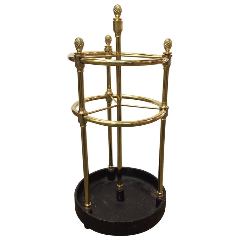 large decorative umbrella stand in brass or cast iron at 1stdibs Iron Umbrella Holder