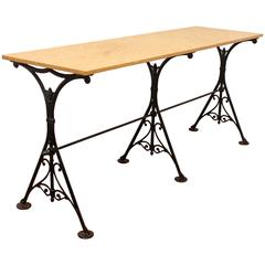 Marble Top Trestle Style Table