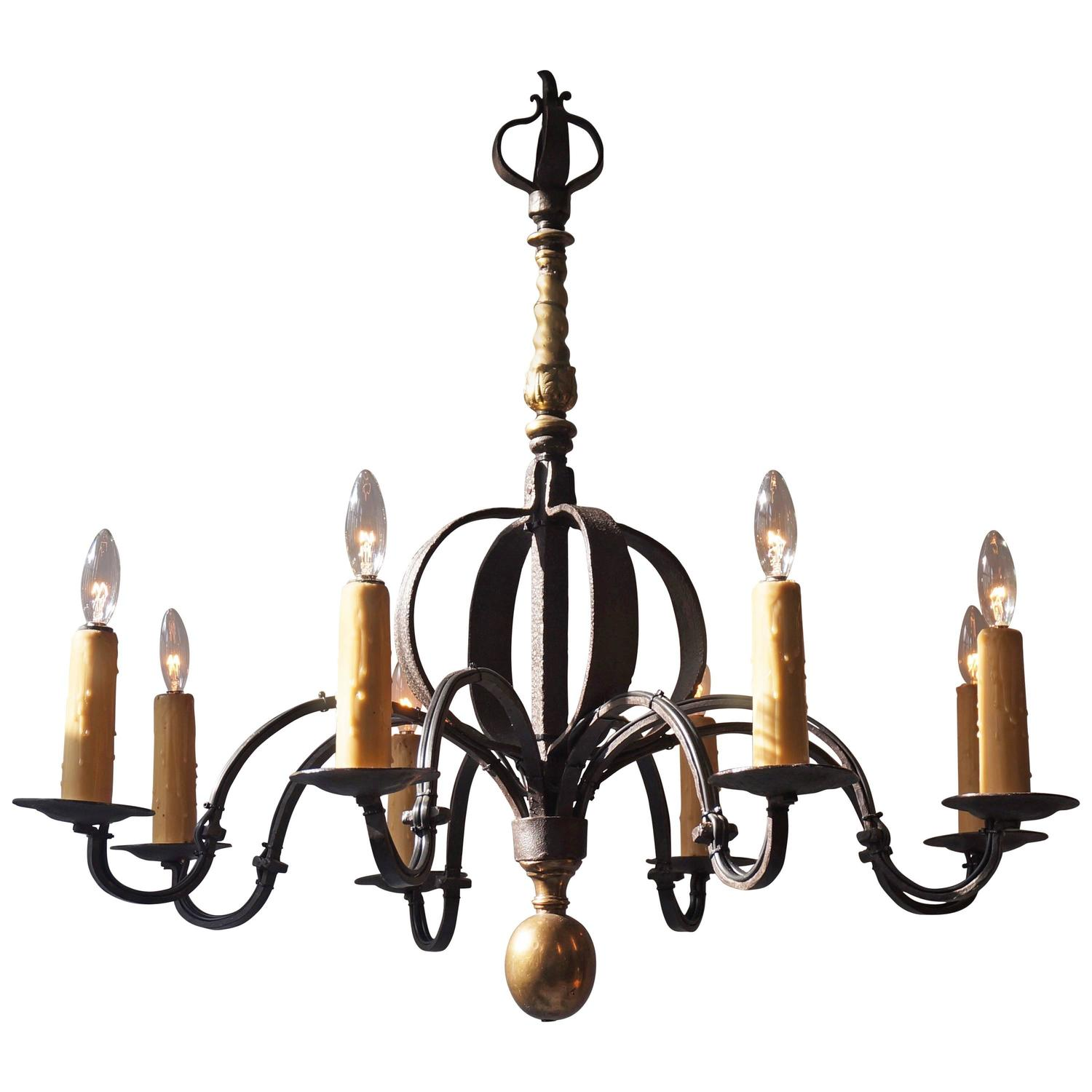 Wrought Iron Chandelier At 1stdibs