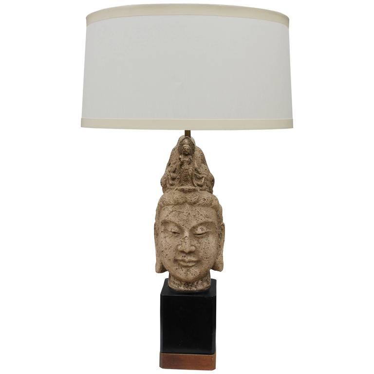 1960s James Mont Buddha Table Lamp 1