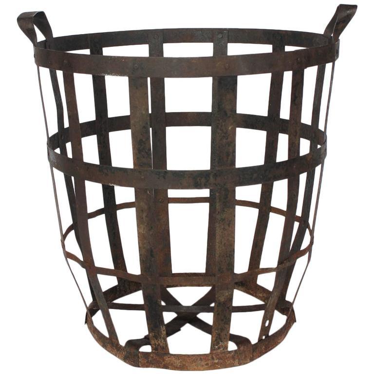 Large Industrial Metal Basket