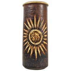 Danish Art Pottery Vase by Soholm Bornholmsk Stentoj