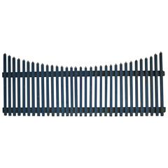 Farm Picket Fence in Original Blue Paint