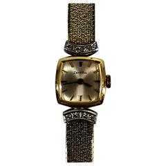 Ladies ZentRa 14-Karat Gold Watch and Band with Diamonds