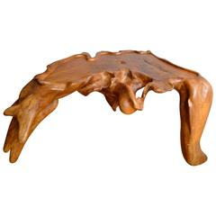 Organic Burl Wood Free Form Table