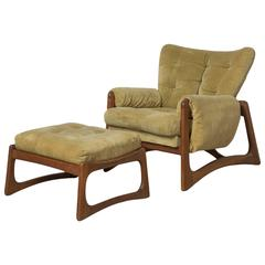 Green Adrian Pearsall Lounge Chair & Ottoman