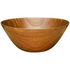 Rare Arthur Espenet Carpenter Turned Teak Bowl American Studio Craft