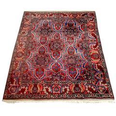 Rare Huge Very Fine Persian Bakhtiari Rug Carpet -circa 1930--REDUCED