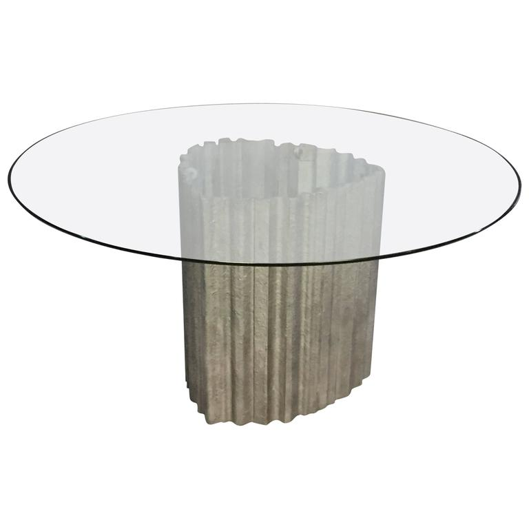 Chic Brutulist Dining/Center Table by Max Papiri