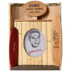 Duke Kahanamoku, Father of Modern Day Surfing, Collectible Skateboard Lamp