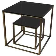 Two Bronze Occasional Tables by Paul M. Jones