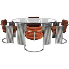 Very Rare Deco Inspired Dining Set by Milo Baughman for Thayer Coggin, 1970s