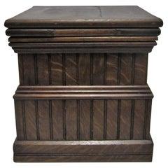 Column Architecture Square Wood Pedestal Side Table