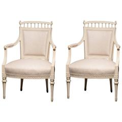 Excellent Pair of Gustavian Armchairs